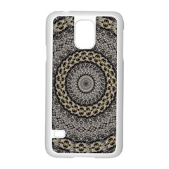 Celestial Pinwheel Of Pattern Texture And Abstract Shapes N Brown Samsung Galaxy S5 Case (white) by Nexatart