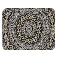 Celestial Pinwheel Of Pattern Texture And Abstract Shapes N Brown Double Sided Flano Blanket (large)