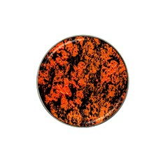 Abstract Orange Background Hat Clip Ball Marker (10 Pack) by Nexatart