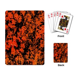 Abstract Orange Background Playing Card by Nexatart