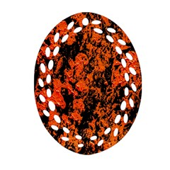 Abstract Orange Background Ornament (oval Filigree) by Nexatart