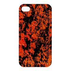 Abstract Orange Background Apple Iphone 4/4s Hardshell Case by Nexatart