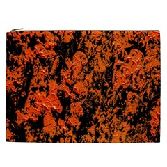 Abstract Orange Background Cosmetic Bag (xxl)  by Nexatart