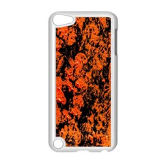 Abstract Orange Background Apple Ipod Touch 5 Case (white) by Nexatart