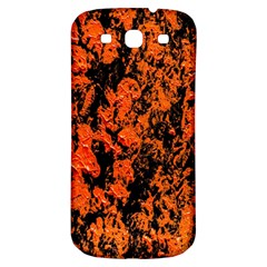 Abstract Orange Background Samsung Galaxy S3 S Iii Classic Hardshell Back Case by Nexatart