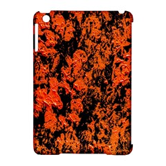 Abstract Orange Background Apple Ipad Mini Hardshell Case (compatible With Smart Cover) by Nexatart