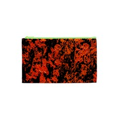 Abstract Orange Background Cosmetic Bag (xs) by Nexatart