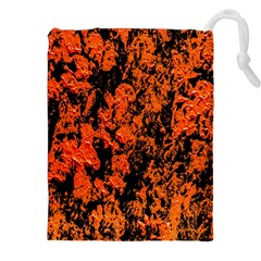 Abstract Orange Background Drawstring Pouches (xxl) by Nexatart