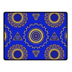 Abstract Mandala Seamless Pattern Fleece Blanket (small) by Nexatart