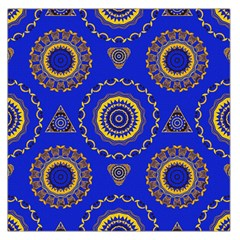 Abstract Mandala Seamless Pattern Large Satin Scarf (square) by Nexatart