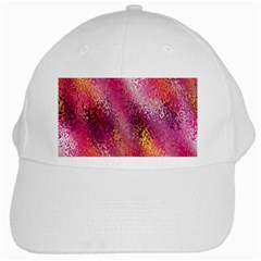 Red Seamless Abstract Background White Cap by Nexatart