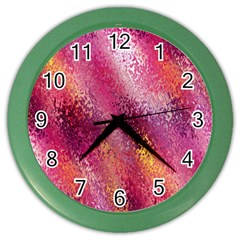 Red Seamless Abstract Background Color Wall Clocks by Nexatart