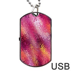 Red Seamless Abstract Background Dog Tag Usb Flash (two Sides) by Nexatart