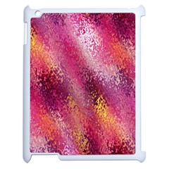 Red Seamless Abstract Background Apple Ipad 2 Case (white) by Nexatart