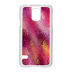 Red Seamless Abstract Background Samsung Galaxy S5 Case (white) by Nexatart