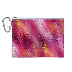Red Seamless Abstract Background Canvas Cosmetic Bag (l)