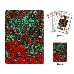 Red Turquoise Abstract Background Playing Card by Nexatart