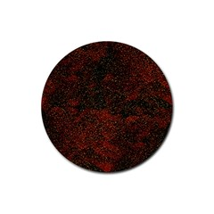 Olive Seamless Abstract Background Rubber Round Coaster (4 Pack)  by Nexatart