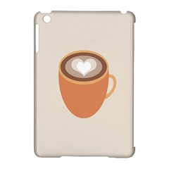 Artin Coffee Chocolate Brown Heart Love Apple Ipad Mini Hardshell Case (compatible With Smart Cover) by Mariart