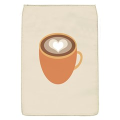 Artin Coffee Chocolate Brown Heart Love Flap Covers (s)  by Mariart