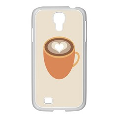 Artin Coffee Chocolate Brown Heart Love Samsung Galaxy S4 I9500/ I9505 Case (white) by Mariart