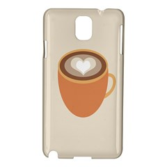 Artin Coffee Chocolate Brown Heart Love Samsung Galaxy Note 3 N9005 Hardshell Case by Mariart
