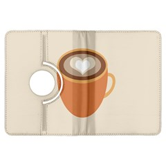 Artin Coffee Chocolate Brown Heart Love Kindle Fire HDX Flip 360 Case by Mariart