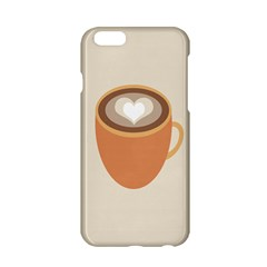 Artin Coffee Chocolate Brown Heart Love Apple Iphone 6/6s Hardshell Case by Mariart