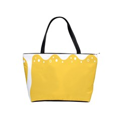 Beer Foam Yellow White Shoulder Handbags by Mariart