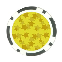 Yellow Star Poker Chip Card Guard by Mariart