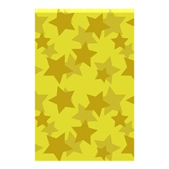 Yellow Star Shower Curtain 48  X 72  (small)  by Mariart