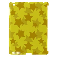 Yellow Star Apple Ipad 3/4 Hardshell Case (compatible With Smart Cover) by Mariart