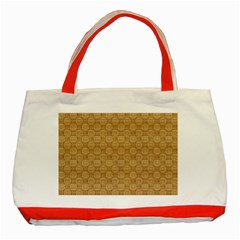 Chess Dark Wood Seamless Classic Tote Bag (red) by Mariart