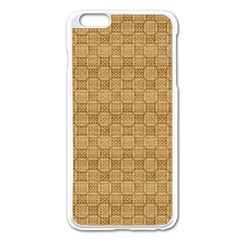 Chess Dark Wood Seamless Apple Iphone 6 Plus/6s Plus Enamel White Case by Mariart