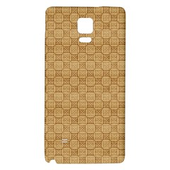 Chess Dark Wood Seamless Galaxy Note 4 Back Case by Mariart