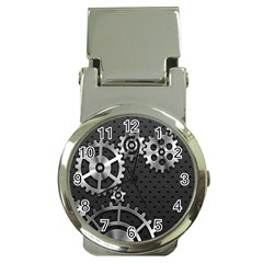 Chain Iron Polka Dot Black Silver Money Clip Watches by Mariart