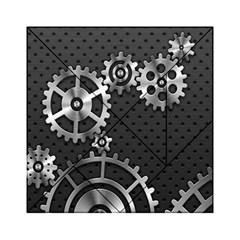 Chain Iron Polka Dot Black Silver Acrylic Tangram Puzzle (6  X 6 ) by Mariart