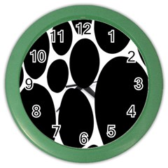 Dalmatian Black Spot Stone Color Wall Clocks by Mariart