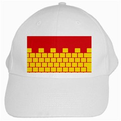 Firewall Bridge Signal Yellow Red White Cap by Mariart