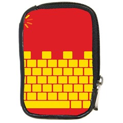 Firewall Bridge Signal Yellow Red Compact Camera Cases by Mariart