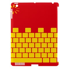 Firewall Bridge Signal Yellow Red Apple Ipad 3/4 Hardshell Case (compatible With Smart Cover) by Mariart