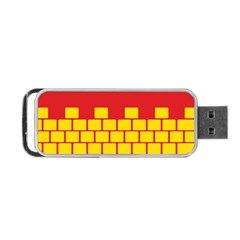 Firewall Bridge Signal Yellow Red Portable Usb Flash (two Sides) by Mariart
