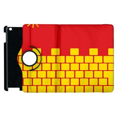 Firewall Bridge Signal Yellow Red Apple Ipad 2 Flip 360 Case by Mariart