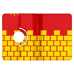 Firewall Bridge Signal Yellow Red Kindle Fire Hdx Flip 360 Case by Mariart
