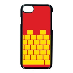 Firewall Bridge Signal Yellow Red Apple Iphone 7 Seamless Case (black) by Mariart