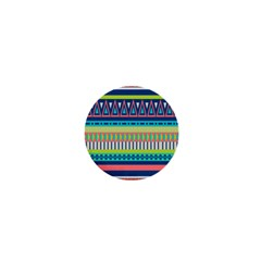 Aztec Triangle Chevron Wave Plaid Circle Color Rainbow 1  Mini Buttons by Mariart
