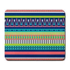 Aztec Triangle Chevron Wave Plaid Circle Color Rainbow Large Mousepads by Mariart