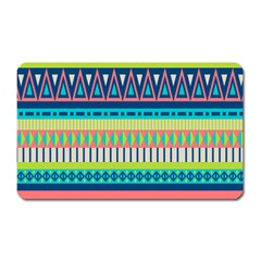 Aztec Triangle Chevron Wave Plaid Circle Color Rainbow Magnet (rectangular) by Mariart