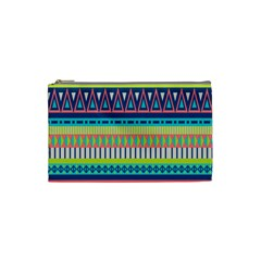 Aztec Triangle Chevron Wave Plaid Circle Color Rainbow Cosmetic Bag (small)  by Mariart