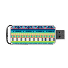 Aztec Triangle Chevron Wave Plaid Circle Color Rainbow Portable Usb Flash (two Sides) by Mariart